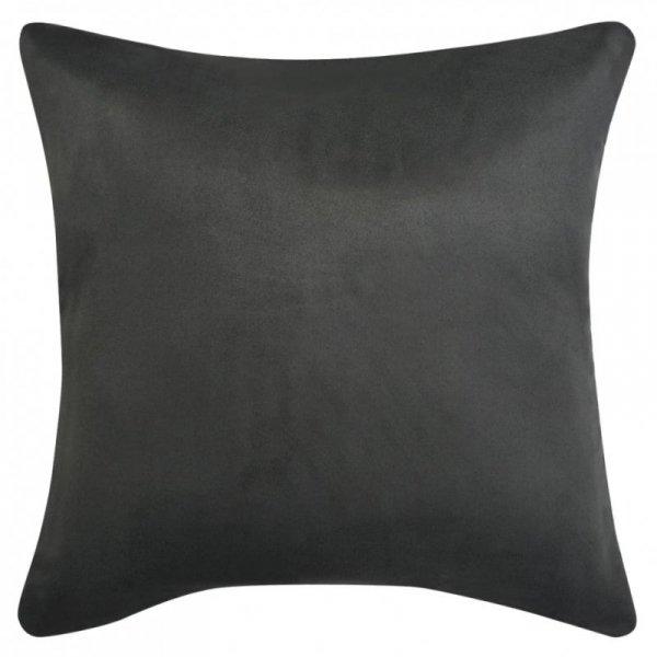 Poszewki na poduszki 40x40 cm, zamszowe, 4 szt., antracytowe