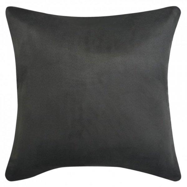 Poszewki na poduszki 80x80 cm, zamszowe, 4 szt., antracytowe