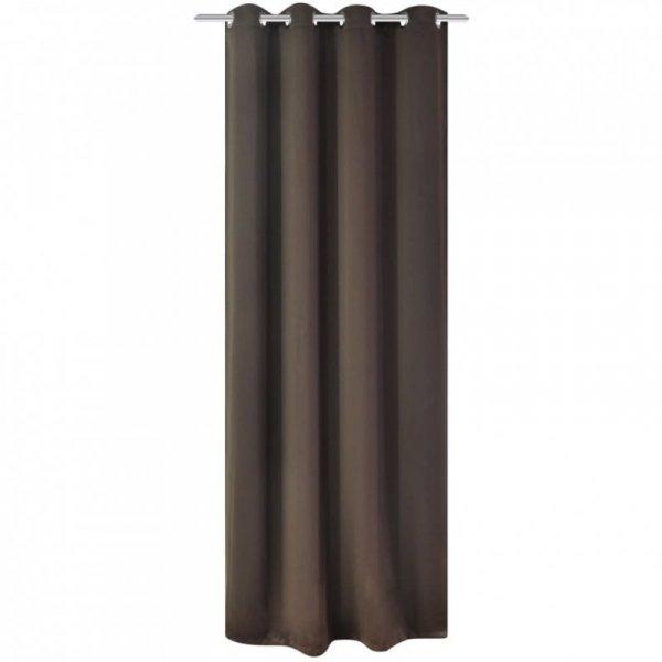 Zasłona zaciemniająca z kółkami, 270 x 245 cm, brązowa