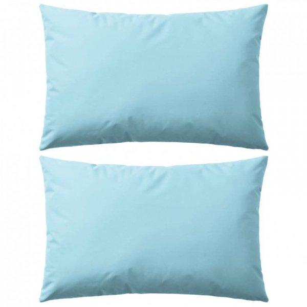 Poduszki na zewnątrz, 2 sztuki, 60x40 cm, kolor błękitny