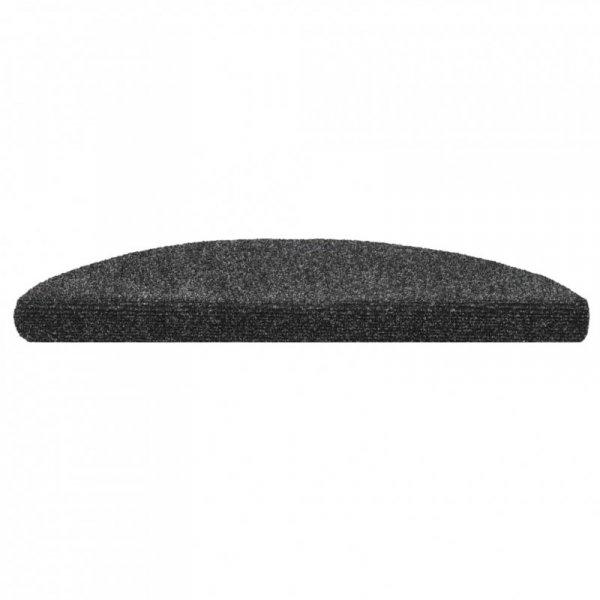 Samoprzylepne nakładki na schody, 15 szt., 54x16x4 cm, szare