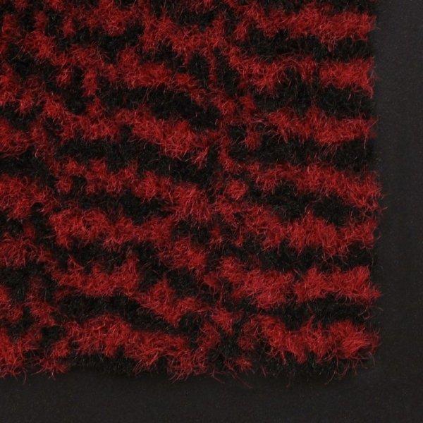 Prostokątna wycieraczka przed drzwi 60 x 90 cm, czerwona