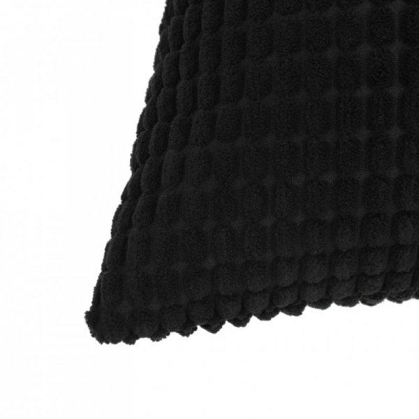 2-częściowy zestaw poduszek, welur, 40x60 cm, czarny