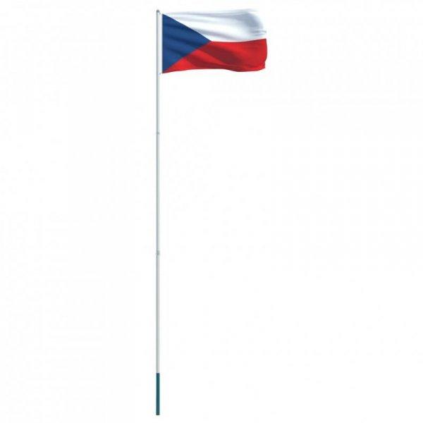 Flaga Czech z aluminiowym masztem, 4 m