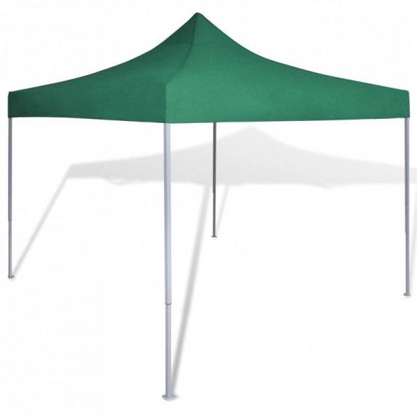 Zielony, składany namiot, 3 x 3 m