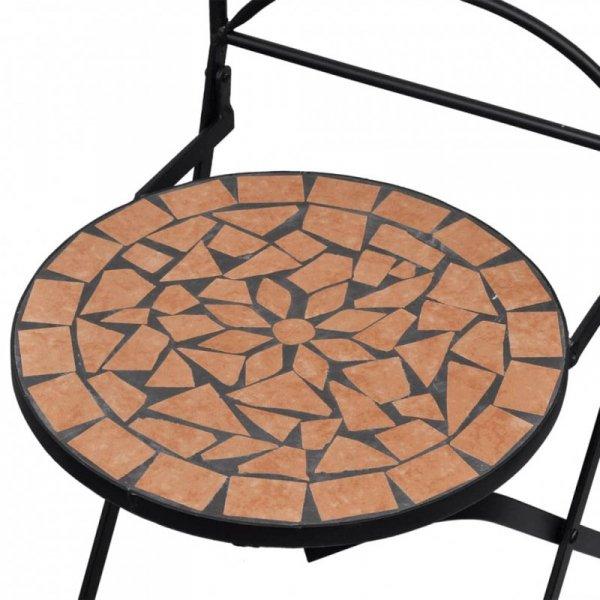 Składane krzesła bistro, 2 szt., ceramiczne, terakota