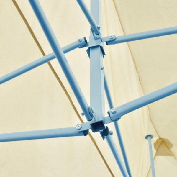 Kremowy namiot imprezowy, rozkładany, 3 x 6 m