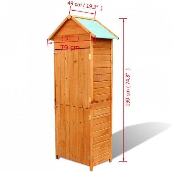Szafa ogrodowa, brązowa, 79 x 49 x 190 cm