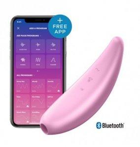 Wibrator łechtaczki - Satisfayer Curvy 3+ Pink incl. Bluetooth and App