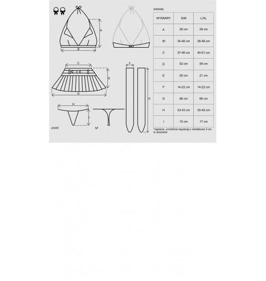 Kostium uczennicy - Obsessive Schooly (rozmiar S/M)