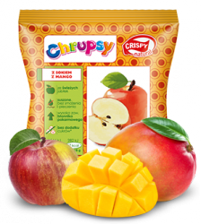 Chipsy z jabłka z sokiem z mango Crispy Natural, 18g