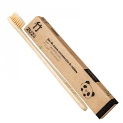 Bambusowa szczoteczka do zębów dla dorosłych beżowa Zuzii