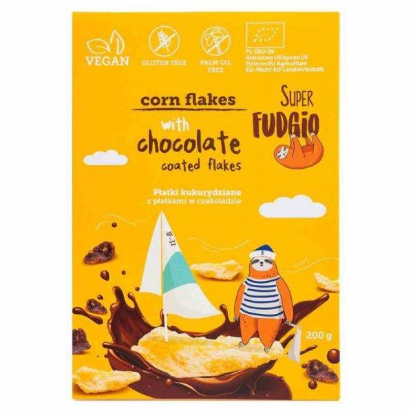 Płatki kukurydziane z płatkami w czekoladzie bezglutenowe Super Fudgio BIO, 200g