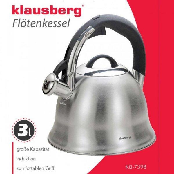 Czajnik 3L z gwizdkiem KLAUSBERG KB-7398
