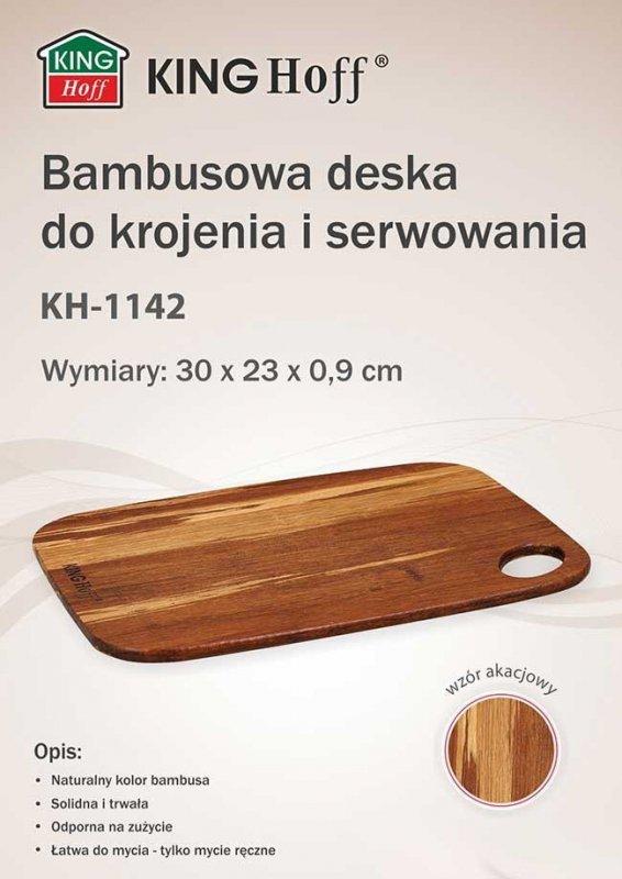 BAMBUSOWA DESKA KUCHENNA 30x23cm KINGHOFF KH-1142