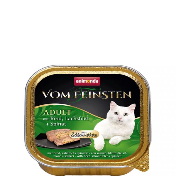 ANIMONDA Vom Feinsten Gourment Centre z wołowiną i filetem z łososia + szpinak 100 g