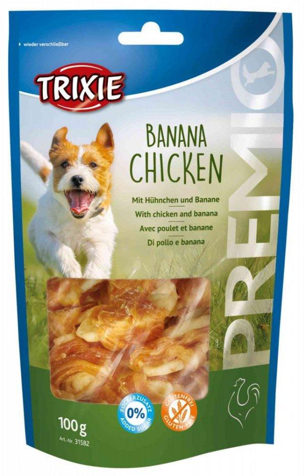 TRIXIE SNACKI Premio z kurczakiem i bananem, 100g [TX-31582]