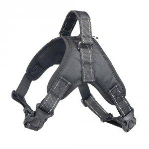 PETLOVE Szelki odblaskowe dla psa M czarne [SZELODBMBK]