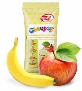 Kostki jabłka z przecierem bananowym Crispy Natural, 12g