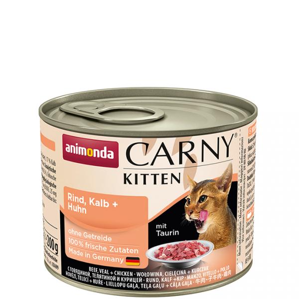 ANIMONDA Carny Kitten puszka wołowina cielęcina kurczak 200 g