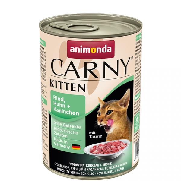 ANIMONDA Carny Kitten puszka wołowina kurczak królik 400 g