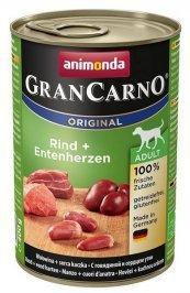 ANIMONDA GranCarno Orginal Adult puszki wołowina i serce kacze 400 g