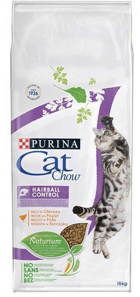 PURINA CAT CHOW SPECIAL CARE Hairball Control Bogata w kurczaka 15kg
