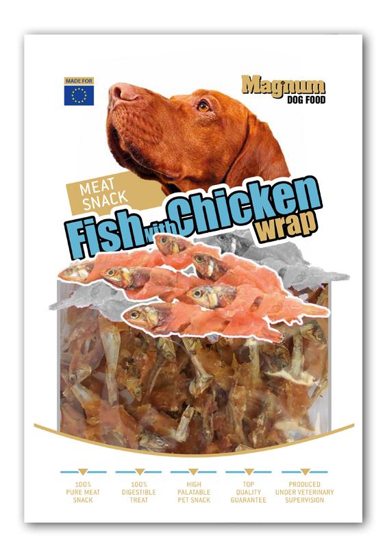 MAGNUM Fish With Chicken Wrap 80g [16566]