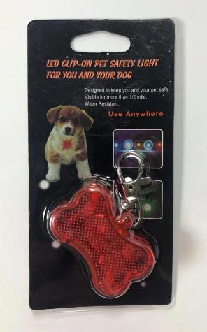 PET STYLE Breloczek ledowy dla psa (kość) [BRL01]