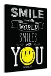Smile and the World Smiles With You - obraz na płótnie