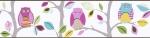 Pasek dekoracyjny 8955-23 sowy