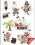 Naklejki piraci i piracki statek