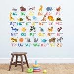 Naklejki Alfabet Literki ze zwierzętami Litery