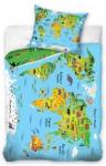 Pościel Edukacyjna Mapa Świata 160x200cm komplet pościeli