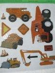 Naklejki maszyny budowlane i motory