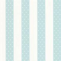 Tapeta w niebieskie pasy i serduszka 13621-20