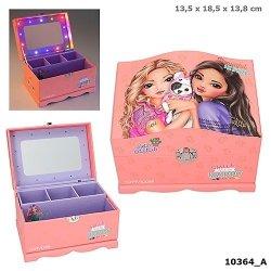 Szkatułka pudełko na biżuterię Top Model podświetlane lusterko 10364