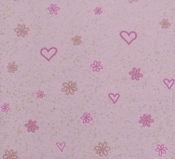 Tapeta różowe kwiatki i serca