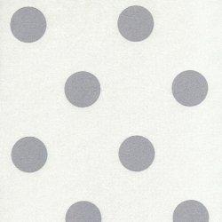 Tapeta biała w szare w grochy 13540-10