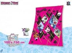 Kocyk polarowy Monster High 150x100