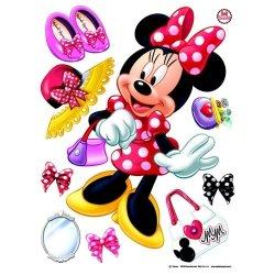 Naklejki Duża Naklejka Myszka Mini Disney Minnie Mouse