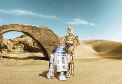 Fototapeta Star Wars Gwiezdne Wojny R2D2 C3PO Lost Droid