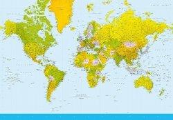 Fototapeta Mapa Świata 366x254cm
