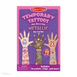 ZESTAW TATUAŻY DLA DZIEWCZYNKI Melissa 12948 Metaliczne