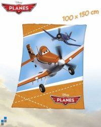 Kocyk polarowy Planes Samoloty 150x100