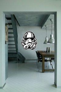 Duża naklejka Star Wars Stormtrooper twarz - naklejki