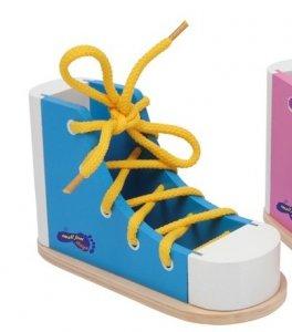 Buty do nauki sznurowania but niebieski