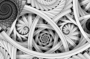 Abstrakcja architektoniczna - fototapeta