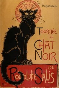 Kot buntownik - Chat Noir - plakat