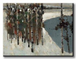 Birch Trees - Obraz na płótnie